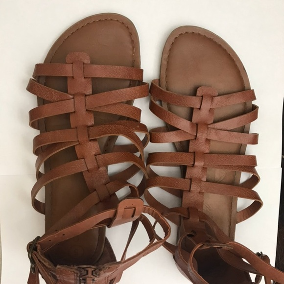Shoes Womens Brown Leather Greekstyle Sandals Poshmark